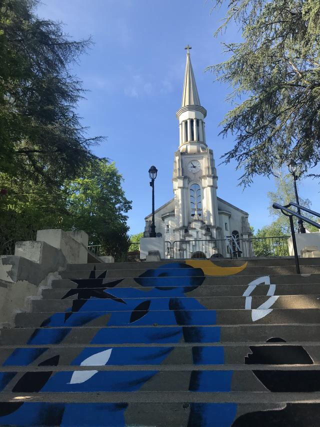 Bagnoles Orne Expo Estivale Collectif 100pression Graf Graffeur Peinture Eglise Art Contemporain (3)